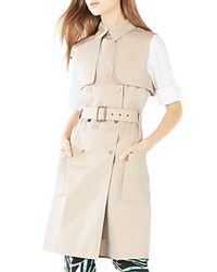 Bcbgmaxazria Lenard Double Breasted Trench Vest Light Straw