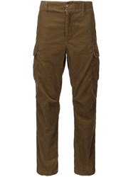 Engineered Garments Straight Leg Trousers Brown
