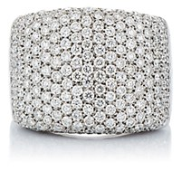 Roberto Marroni Women's Pave Rectangular Ring No Color