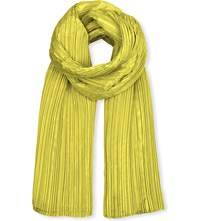 Issey Miyake Pleats Please Madame T Pleated Scarf Canary Yellow