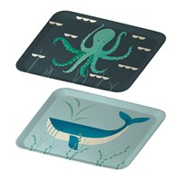 Magpie Ahoy Tray Set Of 2 Whale And Octopus