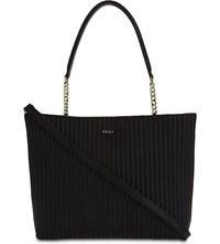 Dkny Gansevoort Quilted Leather Shopper Black
