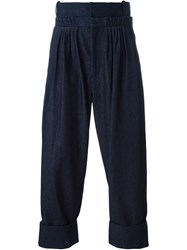 J.W.Anderson J.W. Anderson Front Pleat Baggy Trousers Blue