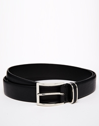 Hugo Boss Boss Black Leather Belt With Metal Keeper Detail