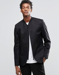 Hugo Boss By Stretch Zip Blazer Black