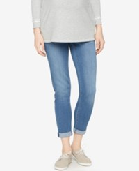 A Pea In The Pod Maternity Indigo Denim Wash Boyfriend Jeans