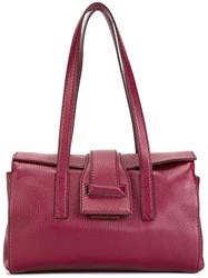 Max Mara Fold Over Fastening Tote Bag Red