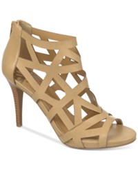 Fergalicious Histeria Caged Dress Sandals Women's Shoes Nude