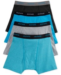 Alfani Men's 4 Pack. Cotton Boxer Briefs Only At Macy's Bright Blue