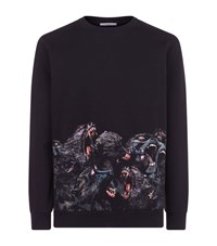 Givenchy Screaming Monkey Sweater Male Black