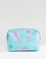 Mi Pac Exclusive Unicorn Make Up Bag Aqua Pink Multi