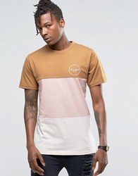 Friend Or Faux Cut And Sew T Shirt Tan