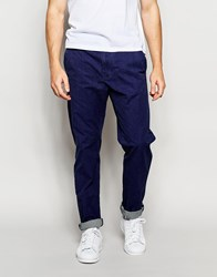 United Colors Of Benetton Casual Trouser With Roll Up Blue