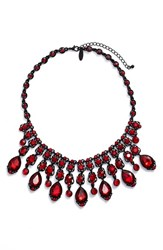 Tasha Women's Jewel Frontal Necklace Red Black