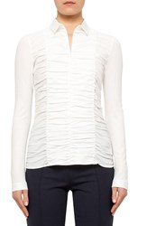 Women's Akris Punto Ruched Front Poplin Shirt