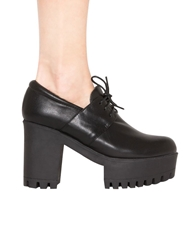 Pixie Market Crosby Lace Up Platforms In Black