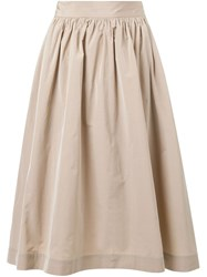 Cityshop A Line Midi Skirt Nude And Neutrals