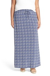 Plus Size Women's Caslon Drawstring Waist Woven Maxi Skirt