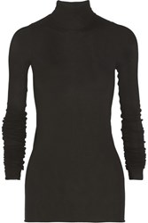 Rick Owens Jersey Turtleneck Top Black