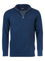 Barbour Essential Half Zip Wool Jumper Navy Mix