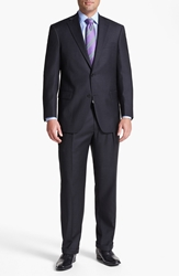 Hart Schaffner Marx 'Chicago' Classic Fit Worsted Wool Suit Charcoal
