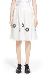 Women's Jupe By Jackie 'Tigra' Flower Embroidered Skirt