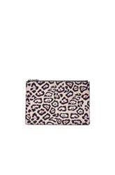 Givenchy Medium Jaguar Coated Canvas Pouch In Pink Neutrals Animal Print