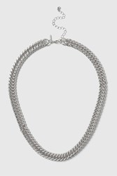 Topshop Curb Chain Necklace Silver
