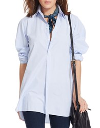 Polo Ralph Lauren Cotton Poplin Tunic Blue