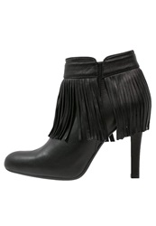 Unisa Pepi High Heeled Ankle Boots Black