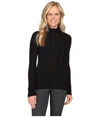 Icebreaker Everyday Long Sleeve Zip Black Women's Clothing