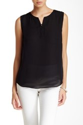 Laundry By Shelli Segal Lace Up Sleeveless Blouse Black