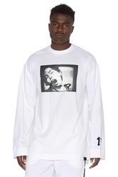 Fenty By Puma Long Sleeve Crew Neck T Shirt White