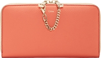 Chloe Coral Pop Colorblock Baylee Continental Wallet