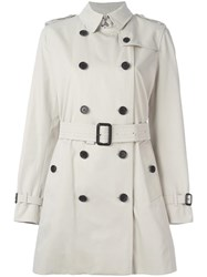 Burberry 'Kensington' Belted Trench Coat Nude Neutrals