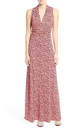 Petite Women's Vince Camuto 'Shadow Forms' Print Jersey Maxi Dress
