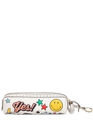 Anya Hindmarch Pens And Pencils Stickers Leather Case Off White