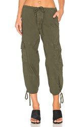 James Perse Slim Cropped Cargo Pant Green