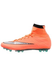 Nike Performance Mercurial Superfly Agr Football Boots Bright Mango Metallic Silver Hyper Turquoise Orange