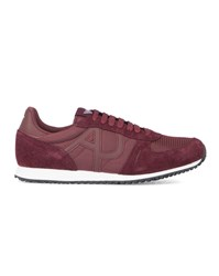 Armani Jeans Burgundy Aj Logo Running Shoes