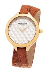Stuhrling Women's Vogue Leather Wrap Watch Multi