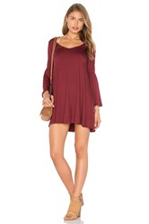 Rachel Pally Flutter Sleeve Mini Dress Burgundy
