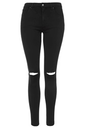 Topshop Moto Black Ripped Leigh Jeans