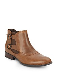 Crown By Born Leather Monk Strap Ankle Boots