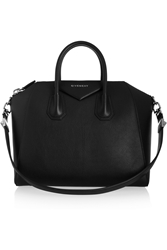 Givenchy Medium Antigona Bag In Black Goat Leather