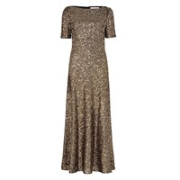 Libelula Long Phoebe Dress Gold Sequins