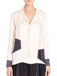 Martin Grant Two Tone Silk Blouse