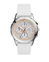 Fossil Modern Pursuit Chronograph Silicone Strap Watch White