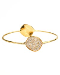 Ippolita Stardust Large Two Flower Gold Diamond Bangle