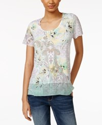 Jm Collection Printed Short Sleeve Top Only At Macy's